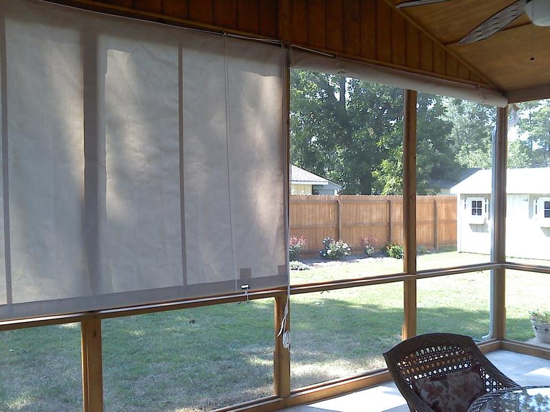 Roll Curtains, Showing Retracted Position, Poquoson Va
