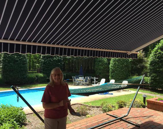 Retractable Awning, Chesapeake Bay